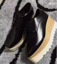 Wholesale Platform Wedges Sale - 2017 Hot Sale! Stella Mccartney Shoes Top Quality Genuine Leather Women Fashion Platform Wedge Platform Oxfords Boost Sneakers