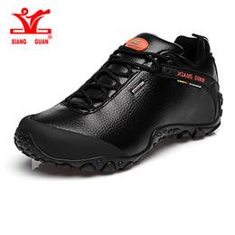 Wholesale Man Shoes Trekking - XIANG GUAN Outdoor Waterproof Hiking Shoes Men Slip Resistant Shoes Climbing Women Walking Shoe For Lover Trekking Boots EUR 36-45