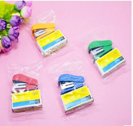 Wholesale Cheap Wholesale School Supplies - Mini Style Cheap Stapler Staple Set with No. 10 Staples Stationery Candy Stapler Grampeador Office School Supplies