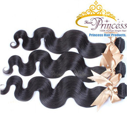 Wholesale Virgin Body Wave 3pcs Queen - 6A Peruvian Virgin Hair Weaves Wavy Body Wave Peruvian Remy Human Hair Extensions Queen Hair Products Double Weft 3pcs lot Free Shipping