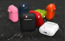 Wholesale Iphone Accessories Silicone Case - AirPods Case For Apple Airpods Charger Soft Silicone Air Pods Case WaterProof Cover For iPhone 7 Accessories Airpods Charging Cover 50pcs