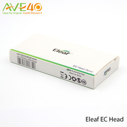 Wholesale Ecig Heads - Eleaf Ecig Ijust s kit iJust 2 Kit Atomizers Replacement EC Head New Dual Coil for iJust 2 Vaporizer Kit Sub ohm Ni 0.15ohm