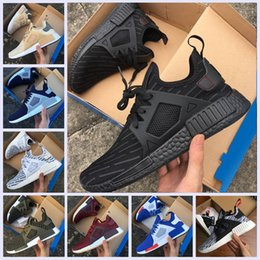 Wholesale Yellow Rubber Ducks - 2017 NMD_XR1 PK Running Shoes Cheap Sneaker NMD XR1 Primeknit OG PK Zebra Bred Blue Shadow Noise Duck Camo Core Black Fall Olive