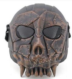 Canada gros WoSporT Desert Legion V1 Masque En Plein Air Live CS Champ Tactiques Nécessaire De Protection En Acier De Mesh Masque Masque, Mode Hommes De La Formation De La Masque Offre