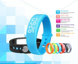 Wholesale Rate Light Blue - Fashion Multifunction Smart bracelet sports LED lighting bracelet watches Step 3D Acceleration sensor for ios andriod free shipping