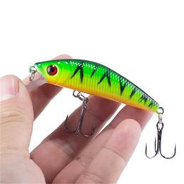 señuelos minnow 7cm Rebajas Señuelo realista de la pesca de los Minnow 7CM 8.5G 6 # Hooks Fish Wobbler Tackle Crankbait Cebo duro artificial Swimbait