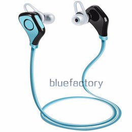 Wholesale Iphone Hands Free Headset - In-Ear Bluetooth S5 Stereo Earphone Headphone Neck-strap Wireless Headsets with Mic Music Hand-free for iphone 7 Samsung S7 edge Universal