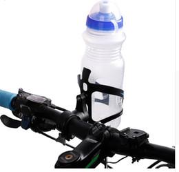 Portabotellas bicicleta agua manillar online-WEST BIKING 360 Degree Rotación Botellas de bicicletas Cage Holder Adapter Bike Handlebar Bicycle Seatpost Botellas de agua Adaptador de montaje