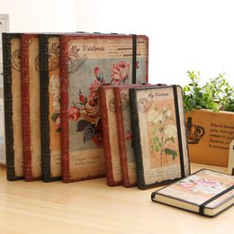 Wholesale Dreams Book - Wholesale- 2017 Creative Dream Flower Diary Book School Notebook Vintage European Student Planner Line Page Gift Stationery Hard Notepad