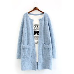 Wholesale Knitwear Sweaters For Women - Wholesale-Hot sale!2016 New fashion Women Long Sleeve Cardigan Knitted Jacket Winter Sweater Coat Knitwear Overcoat for female