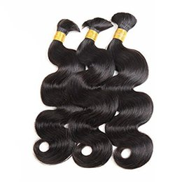 Wholesale Body Wave Hair For Braiding - Unprocessed Brazilian Virgin Hair Body Wave Human Hair Bulk No Weft Human Hair For Braiding 100g Per Bundle