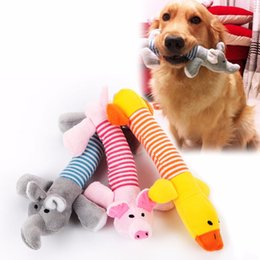 Wholesale Dog Bite Toy - Dog Cat Pet Chew Toys Canvas Durability Vocalization Dolls Bite Toys for Dog Accessories pet dog products High Quality Cute