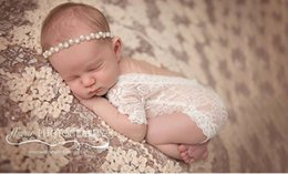 Wholesale Photography Sleeves - Wholesale-100 days baby suit newborn photography props Hooded lace baby clothing pictures 3 months girl Baby Clothing