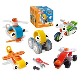 Wholesale Boy Toy S - Children 's Vehicles Assembled LearningToys Plane Motorcycle Racing Creative Blocks Handmade Toys Best Christmas Gifts for Boys