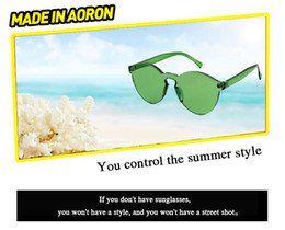 Wholesale Face Sunglass - Luxury Candy colors women sunglassesm high definition fation face sunglasses Conjoined glasses freestyle street snap sunglass free shipping
