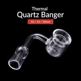 Wholesale 14 Mm - 2017 New XXL Quartz banger quartz Thermal Banger Nail Male Female 10mm 18mm 14 mm Quartz Thermal Banger For Oil Rigs Glass Bongs