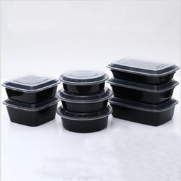 caja desechable de contenedores de almuerzo Rebajas Nuevo diseño Contenedores de preparación de comidas Microondas Almacenamiento de alimentos Control de porciones Contenedores desechables + Tapas Bento Box Lunch Box Bandeja con tapa