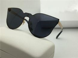 Wholesale Designer Logo Charms - New fashion vintage designer sunglasses big face logo 2120 charming cat eye retro frame frameless UV lens steampunk outdoor style