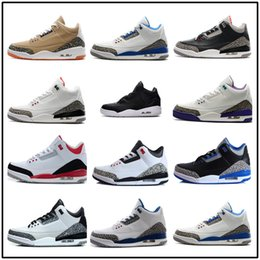 Wholesale Pink Brown Cotton Fabric - Cheap New 3 black cement true blue white cement sport blue infrared 23 wolf grey mens basketball shoes for men sneakers 8-13