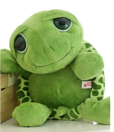 Wholesale Stuffed Green Turtle - New 18cm and 35cm, cute big eyes, turtles, little turtles, stuffed toys, creative birthday gifts, dolls