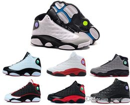 Wholesale Man Online Games - 2018 shoes 13s black cat man basketball shoes red bred He Got Game Black sneaker sport shoes online sale online size 8-13