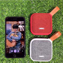 Wholesale Wireless Soundbar - Wireless Bluetooth Speakers REMAX RB-M15 Fabric Leather IP5X Waterproof Speaker grade Cloth Style Portable Soundbar Speaker Outdoor Sports