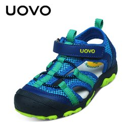 Wholesale Shoes For Little Boys - UOVO 2017 New Arrival Boys Sandals Children Sandals Closed Toe Sandals for Little and Big Sport Kids Summe Shoes Eur Size 25-34