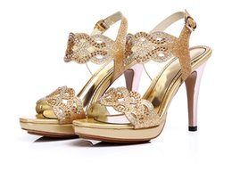 Wholesale Taiwan Sexy Gold - High-heeled sandals women 2017 new summer waterproof Taiwan women's shoes water thin fine with thin sexy night high heels