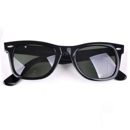 Wholesale Package Sunglasses - Top Quality Glass Polarized Sunglasses Men Women Brand Designer Fashion Metal Hinge Sunglasses UV400 With accessory Package Box 50mm 54mm