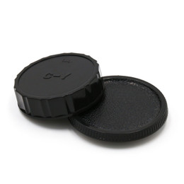 Wholesale Dslr Hood - Wholesale- 1Pair Camera Lens Body Cover + Rear Lens Cap Hood Protector For Contax Yashica C Y CY C-Y Mount DSLR SL