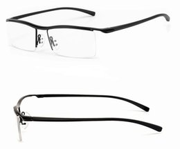 Wholesale Glass Drops Cheap - mens alloy and TR90 eye glass frames black or Silver color men eyeglasses sports half optical frame drop shipping cheap eyeglasses