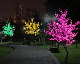 Wholesale Pink Plastic Christmas Tree - New Luz De LED Cherry Blossom Tree Light Luminaria 1.5M 1.8M LED Tree Lamp Landscape Outdoor Lighting for Christmas Wedding Deco LLFA