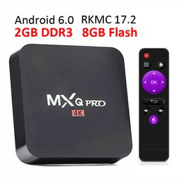 Wholesale Tv Smart Box Wifi - 2GB RAM rk3229 mxq pro 4K Ultimate HD Android 6.0 smart tv box 8gb Quad Core 2.0GHz Hardware Decoding WIFI Miracast