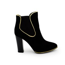Wholesale Wholesale Sexy Boots - SH1317 sexy ankle high heel lady women boots with elastics rubber outsole quality protection sexy female boots size 37-43