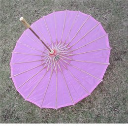Wholesale White Umbrella Parasol Silk - Chinese colored fabric umbrella, white pink parasols, China traditional dance color parasol, Japanese silk props WA1643