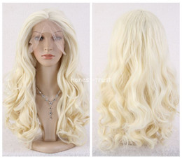 Wholesale Light Blonde Curly Wig Cosplay - Freeshipping havana african american woman >>Women Long Curly Wavy Blonde Heat Resistant Synthetic lace front Cosplay wig
