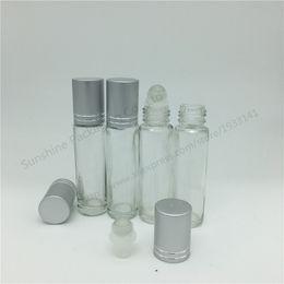 Pequeño rollo de perfume online-Envío gratis 200 x 10 ml Rollo en la botella de perfume, 10 ml de aceite esencial claro en la botella, frascos de perfume pequeños