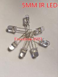 Wholesale 5mm High Power Led - Wholesale- Wholesale 10 pcs lot 5mm IR Infrared LED 940nm Lamp Transmitting Tube Emitting Diode High Power 10pcs