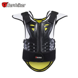 Wholesale Motorcycle Body Armour Jacket - HEROBIKER New Motorcycle Body Armor Vest Anti-Wrinkle Breathable Motocross Armour Unisex Black Green Motorcycle Jackets S L XL