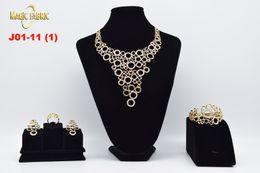 Wholesale Italian Fashion Earrings - 2017 Original Fashion gold plated bridal jewelry sets Italian set for women girls wedding Jewelry sets