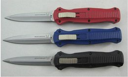 Wholesale Good Survival - 4 styles Benchmade BM 3300 3300BK 3310BK Infidel tactical Knife double   Single edge good action Plain EDC pocket survival knife knives
