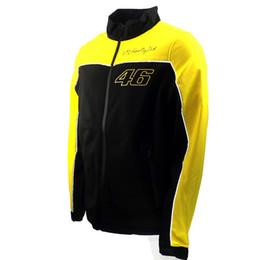 Wholesale Gps Panel - New 2017 MOTO GP Valentino Rossi VR46 Yellow Panel Soft Shell Jacket Casual Waterproof jacket Free shipping