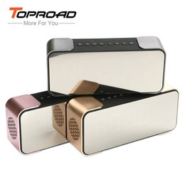 Wholesale Clock Radio Iphone Dock - Wholesale- Bluetooth Speaker Wireless Portable Bass Subwoofer built-in 2500 battery for iPad iPhone Android Phones Alarm Clock FM Radio TF