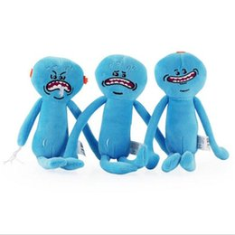 Wholesale Happy Birthday Videos - 25CM Rick And Morty Happy Sad Meeseeks Soft Movie Plush Toys Anime Cute Kawaii Stuffed Animals Toy Birthday Gift Kids Movie Plush Doll