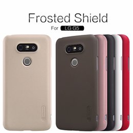 Wholesale nillkin case for lg - NILLKIN Super Frosted Shield hard back cover case for LG G5 case cover with free screen protector and retail package