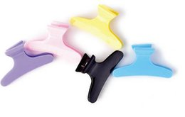 Wholesale Butterfly Mouth - Professional hairdressing tool positioning partition clip color butterfly clip hairdressing special folder butterfly duck mouth clip 12