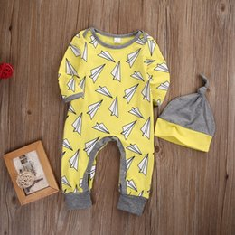 Wholesale First Birthday Outfits - 12 Month Old Girl Boy Clothes Baby Boys Pajamas Romper Christmas Children Outfit Fall Boutique Kids Clothing First Birthday Baby Onesie