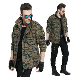 Wholesale long military style jacket - Men Army Camouflage Clothes Military Style Tactical Jackets For Men Pilot Coat US Army M65 101 Air Force Bomber Jacket Coat