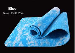Argentina Al por mayor-calidad 4 colores 185CM TPE estera Yoga Yoga ejercicio Yoga interior al aire libre Pilates práctica que adelgaza ejercicio de la aptitud 185 * 62 * 0.6CM Suministro