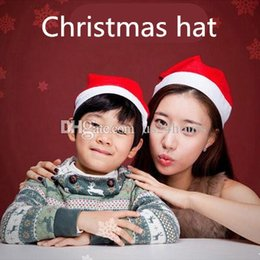 Wholesale Wholsale Children - Factory wholsale Adult   Child Classic Unisex Santa Xmas Hat Party Decor Hats Christmas Holiday Costume Caps for audlt and child